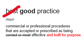 Good practice not 'best practice'